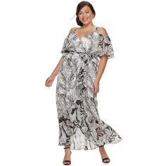 a55347ebd79 Plus Size Chaya Cold-Shoulder Wrap Maxi Beauty Logo