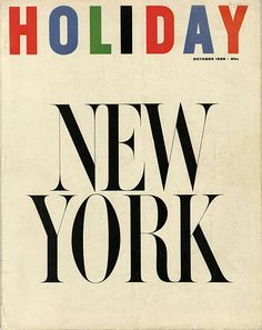 Holiday October 1959 New York