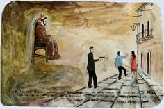 Oil on tin, 2006. : Propiedad del Santuario de San Francisco de Asís de la Diócesis de Matehuala, SLP, México/INAH  I thank God and Saint Francis of Assisi because on this day, 25 years ago, I was saved after receiving 4 bullet shots in the city of San Luis Potosi, SLP.