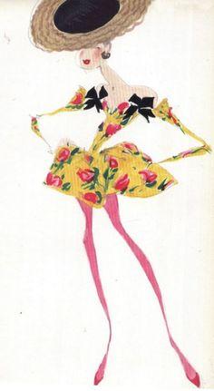 Christian Lacroix Christian Lacroix, Costume Design Sketch, Illustration  Sketches, Fashion Illustrations, Design a68b780cc3e