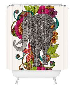 Ruby the Elephant Shower Curtain #zulily #zulilyfinds