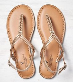 AEO Braided T-Strap Sandal 40% off right not through 30th, so approx. cost $15 w/ free shipping! Possible bridesmaid shoe? @smfamw