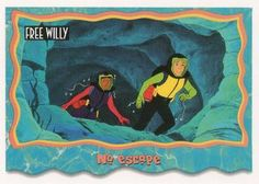 1995 SkyBox Free Willy The Adventure Home No escape Front Free Willy, Sports Gallery, Trading Card Database, Trading Cards, Flag, Adventure, Country, Painting, Art