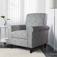 Free Shipping. Buy Ocean Bridge Adela Accent Chair, Teal Medallion Print at Walmart.com
