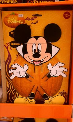 Mickey Mouse Halloween Pumpkin Decorating Kit by partyhare.  No carving required!  $7 at Kmart.com