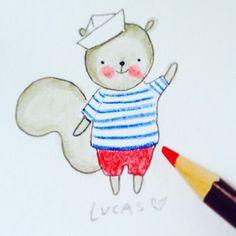 Character Design   Squirrel   @LadyLucasArt