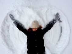 How To Make The Perfect Snow Angel - making snow angels are fun and everyone can do it! Winter Fun, Winter Time, Weather Experiments, I Love Snow, Hands In The Air, Gnome House, Christian Christmas, How To Make Snow, Build A Snowman