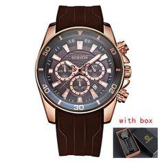 Watches Men Casual Classic Top Brand Date Chronograph Men's Clock Silicone Fluorescence Quartz Military Wrist Watch male relogio Armani Watches For Men, Mens Sport Watches, Casual Bags, Sport Casual, Quartz Watch, Chronograph, Clock, Luxury