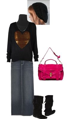 Modest Outfit 149 by christianmodesty ❤ liked on Polyvore