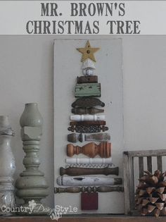 how to create a christmas tree decor out of old posts, christmas decorations, crafts, seasonal holiday decor, woodworking projects Christmas Love, Christmas Signs, Christmas Projects, Winter Christmas, Christmas Tree Decorations, All Things Christmas, Vintage Christmas, Christmas Trees, Christmas Booth