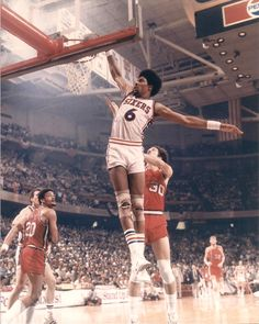 I wore #6 playing ball as a kid.  Loved Dr. J!