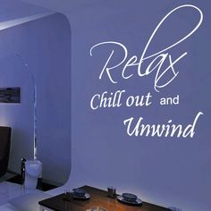 Relax Bedroom Wall Quote