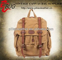 Popular premium leather Canvas Vintage brand Backpack bags $25.3~$37.2