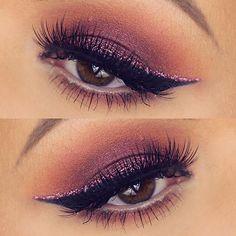 @rachelhelen1991 used our Wicked gel liner in this glitter glam eye look. ✨ #sigmabeauty