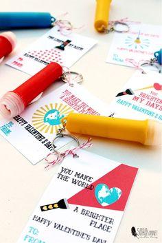 Flashlight valentine free printable, non candy valentine, flash light valentine - sohosonnet creative living
