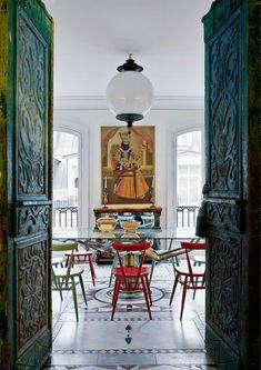 * T h e * V i s u a l * V a m p *: The Paris Attic Apartment Of Christian Louboutin