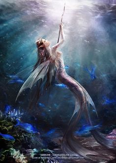 Beautiful Digital Illustrations by Phoenix Lu 5th daughter of Posiden, Gwen