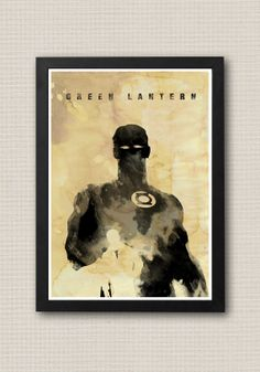 Justice League Green Lantern Ink Effect Poster / Print by onlyarts, $14.90