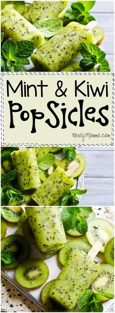 I love this easy recipe for these Mint and Kiwi Popsicles. I mean, I never thought of combining those two! So yummy sounding!