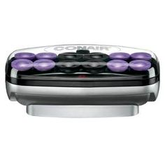 You're ready to roll in 2 minutes with these Conair Instant Heat Jumbo Rollers. The ceramic dual ionic port system promotes shiny, conditioned and healthy hair. The 12 soft velvety rollers come with styling clips, a base to heat the rollers and an on/off switch.