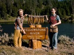 Fishing at Yellowstone Photograph by Edwin L. We've Caught Our Limit!': Of these twelve beauties the ones on the rod are the native Yellowstone trout, called 'cutthroats'. Fishing Girls, Gone Fishing, Bass Fishing, Fishing Stuff, Fishing Rods, A Well Traveled Woman, What's So Funny, Trout Fishing Tips, Vintage Fishing