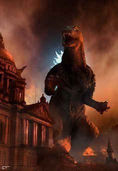 Godzilla in Belfast by Chrisofedf.deviantart.com on @DeviantArt
