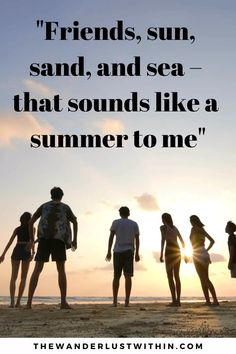Looking for the best travel quotes with friends? These 40 inspiring travel with friends quotes will motivate you to share an adventure with your best friends! Travel Buddy Quotes, Travel With Friends Quotes, Funny Travel Quotes, Solo Travel Quotes, Summer Friends Quotes, Memories With Friends, Memories Quotes, Sunset Quotes, Beach Quotes