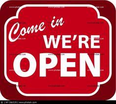 Cartel: Come in. We´re Open.