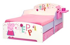 Sleep tight and snuffle down with the Peppa Pig Storytime Toddler Bed.