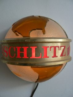 Items similar to vintage schlitz globe wall lamp beer advertising bar sign wall light on Etsy Vintage Beer Signs, Vintage Bar, Vintage Stuff, Old Beer Cans, I Like Beer, Retail Signs, Sign Boards, Schlitz Beer, Bar Displays