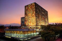 Υπέροχη ψηφιδωτή βιβλιοθήκη στο Μεξικό: CENTRAL LIBRARY – MEXICO CITY, MEXICO