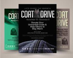Printable Coat Drive Flyer Templates – PSD,Indesign,Ai,Word