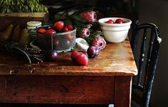 Rustic fruit table  By Hannah Blackmore