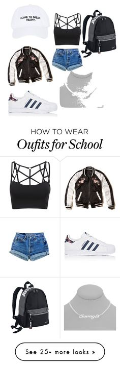 """JUST PLAIN SAVAGE"" by zebragirl1449 on Polyvore featuring Nasaseasons, adidas, Hollister Co. and NIKE"