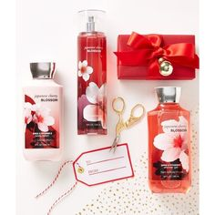 Japanese Cherry Blossom ❤ liked on Polyvore featuring beauty products, bath & body products and body cleansers