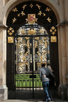 Oxford University Doorway - Oxfordshire, England
