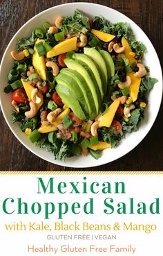 Super easy salad that has a little bit of everything it. You can feel free to change the greens or fruit and add more or less vegetables according to taste. Perfect as is or alongside a simple grilled protein. Recipe adapted from local newspaper. #glutenfree