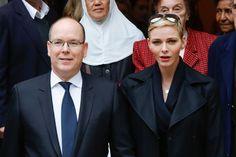 Prince Albert and Princess Charlene attends Parcels Distribution