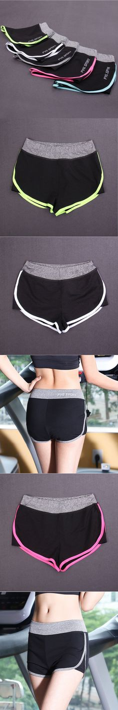 Women Summer Sports Gym Yoga Shorts Low waisted Quick-drying Breathable Fitness Jogging Running Brief pantalon corto