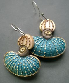 Polymer clay earrings by Shelley Atwood