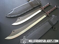 Custom Miller Bros. Blades Custom Dadao style Swords Available in Z-Wear PM, CPM 3V and 5160 steels Miller Bros Blades Custom Handmade knives , Swords & Tomahawks