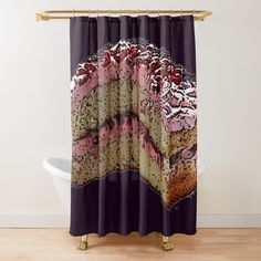 Pomegranate, Curtains, Shower, Art Prints, Printed, Cake, Awesome, Products, Rain Shower Heads
