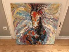 Leinwandbild Pferd - Pferdekopf abstrakt