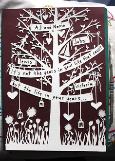 family tree paper cut...