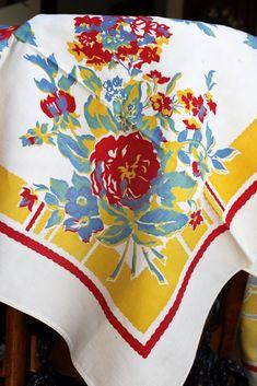 pretty vintage tablecloth