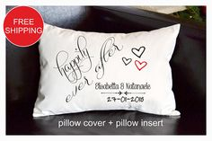 Personalized pillow Wedding gift  Anniversary gift pillow