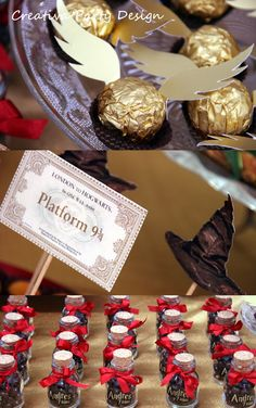 Fiesta Harry Potter! www.creativapartydesign.com                                                                                                                                                     Más