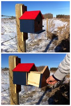 Fun birdhouse geocache.  (pics from Twitter stitched together by I.B. Geocaching & pinned to Birdhouse Geocaches - https://www.pinterest.com/islandbuttons/birdhouse-geocaches/)  #IBGCp