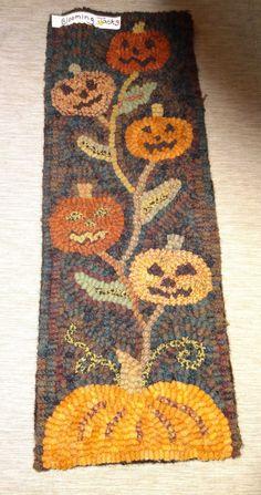 blooming jacks a cupboard door pattern by anitahooks on etsy 2250 halloween quiltshappy halloweenrug - Halloween Rugs