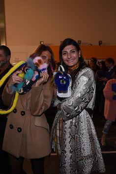 Anna Dello Russo and Giovanna Battaglia together at the Fendi Fall/Winter 2016-17 fashion show